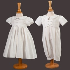 Millie Grace Baby Boy & Girl Twin Christening Outfits - Tia & Jude